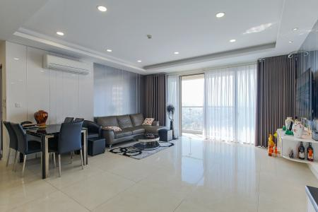 Cho thuê căn hộ Masteri Millennium 105m2 gồm 3PN 2WC, view thành phố, nội thất tiện nghi