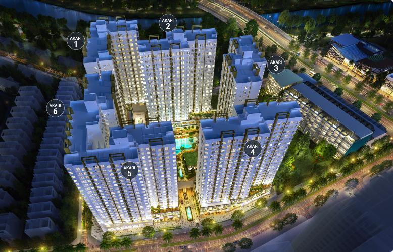 Phối cảnh dự án căn hộ Akari City, Bình Tân Căn hộ Akari City tầng 05, nội thất cơ bản chủ đầu tư