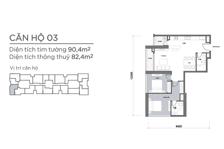 Căn hộ 2 phòng ngủ Căn hộ Vinhomes Central Park tầng trung Park 7 đầy đủ nội thất