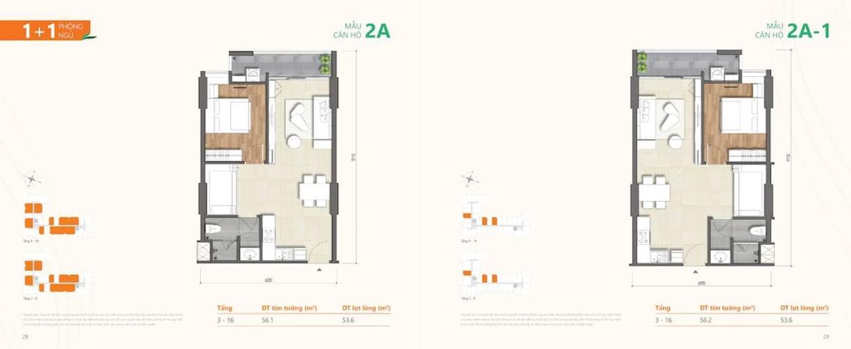 Căn hộ Ricca tầng 5 ban công thoáng mát, nội thất cơ bản hiện đại.