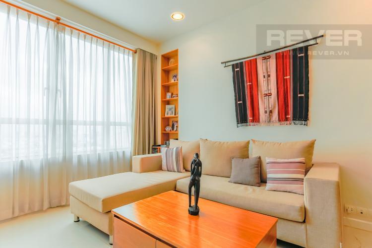 Phòng Khách Căn hộ Sunrise City tầng trung V2 thiết kế 2 phòng ngủ hiện đại
