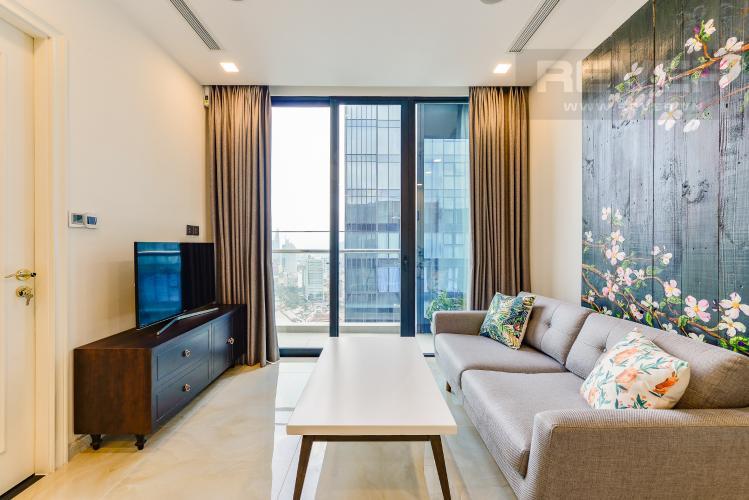 Phòng khách Căn hộ Vinhomes Golden River tầng cao, tháp Aqua 3, 2 phòng ngủ, full nội thất