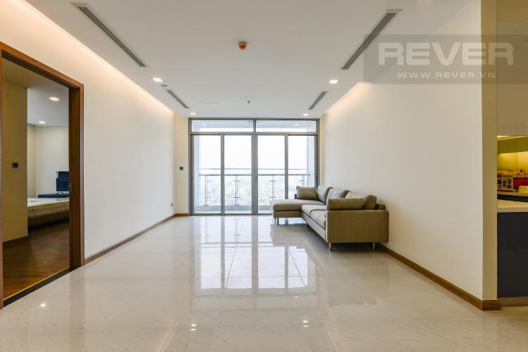 Phòng khách Căn góc Vinhomes Central Park 4 phòng ngủ tầng cao Park 4