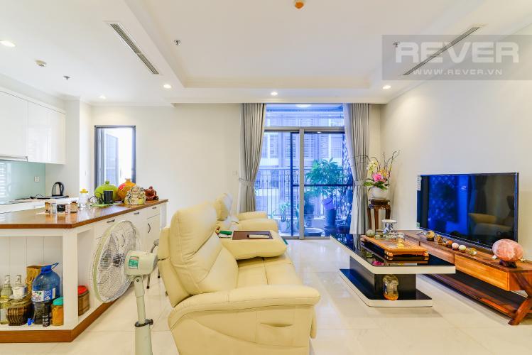 Phòng Khách Căn hộ Vinhomes Central Park 4 phòng ngủ tầng trung C2 hướng Đông Nam
