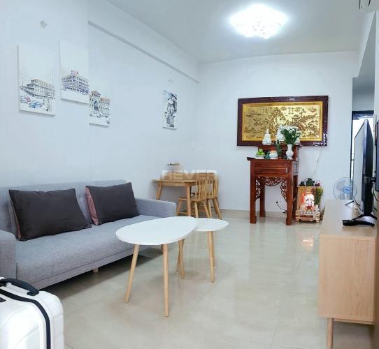 Căn hộ Centana Thủ Thiêm 1 phòng ngủ sàn lót gỗ nội thất đầy đủ.