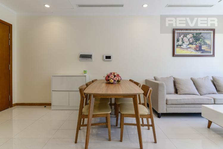 Phòng Ăn Cho thuê căn hộ Vinhomes Central Park 2PN 2WC, nội thất cơ bản, view sông