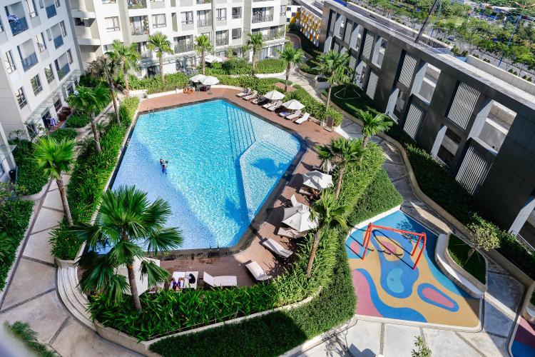 View Căn hộ Masteri Thảo Điền tầng trung, tháp T5, 2PN đầy đủ nội thất, view hồ bơi