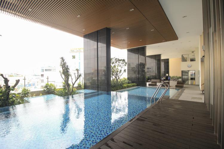 Hồ bơi Kingston Residence, Phú Nhuận Căn hộ Officetel Kingston Residence ban công view Đông Nam.