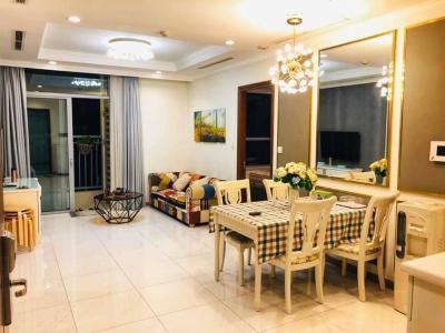 Cho thuê căn hộ Vinhomes Central Park 2PN, tháp The Central 2, đầy đủ nội thất, view nội khu