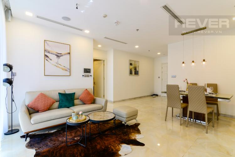 Phòng Khách Cho thuê căn hộ Vinhomes Golden River 2PN, tầng cao, tháp The Aqua 1, đầy đủ nội thất