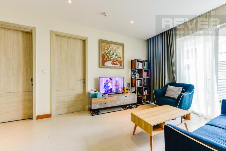 Phòng khách Căn hộ Diamond Island - Đảo Kim Cương 2PN, đầy đủ nội thất