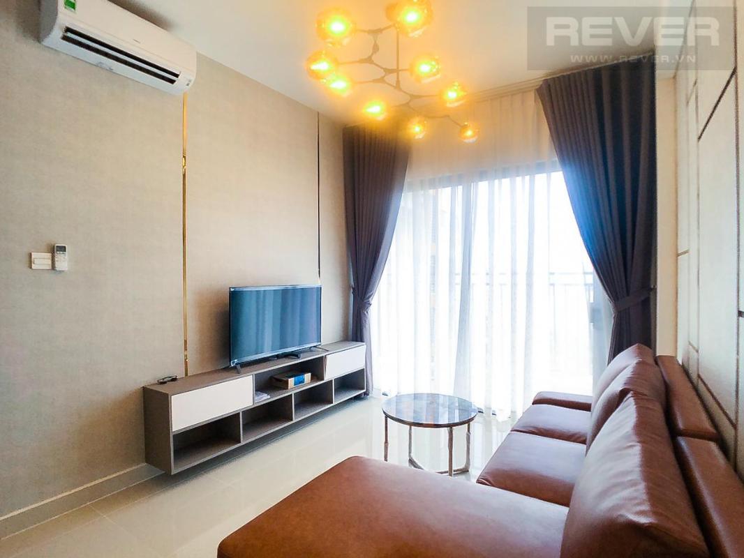 Phòng khách Cho thuê căn hộ The Sun Avenue 2PN, tầng cao, đầy đủ nội thất, view Landmark 81