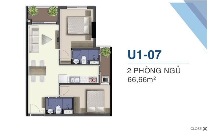 Căn hộ Q7 Saigon Riverside tầng 28, view nội khu.