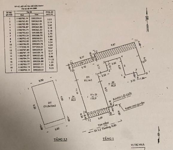 Bản vẽ nhà phố Lý Thường Kiệt, Quận 10 Nhà phố hướng Nam, hẻm xe hơi, diện tích 95m2.