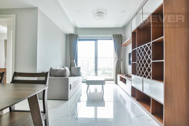Phòng khách Căn góc Masteri Thảo Điền tầng cao hướng Tây Bắc tháp T2