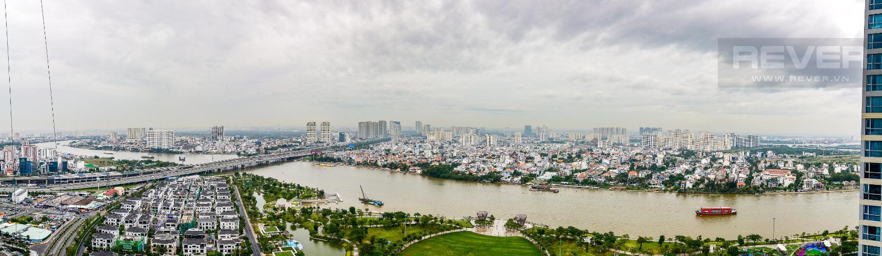 View Căn hộ Vinhomes Central Park tầng cao, 3PN, view sông Sài Gòn