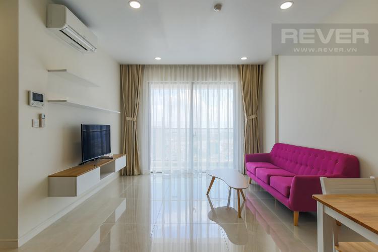 Phòng Khách Căn hộ Masteri Millennium tầng cao, view sông, 2PN nội thấy đầy đủ