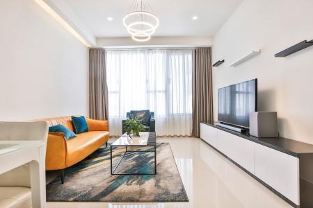 Căn hộ The Tresor 2 phòng ngủ tầng cao TS1 view sông, full nội thất