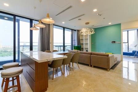 Cho thuê căn hộ Vinhomes Golden River 3 phòng ngủ, đầy đủ nội thất, view sông Sài Gòn và Bitexco