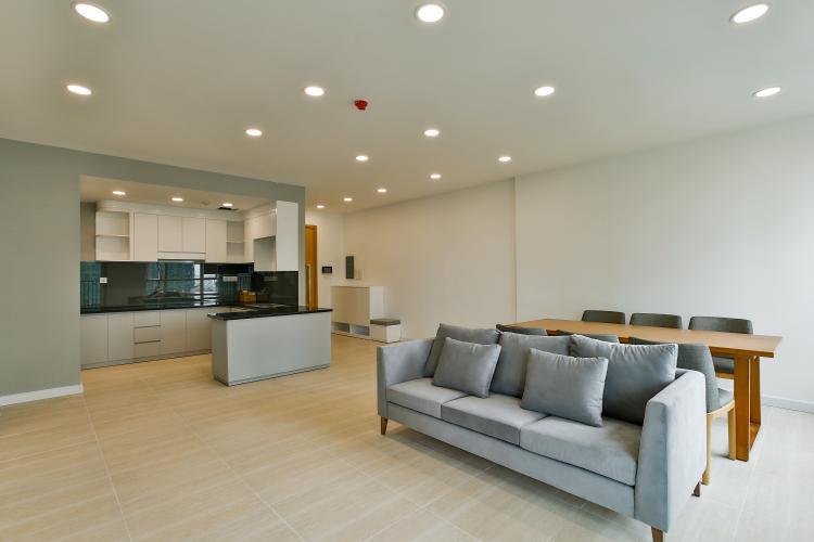 Phòng Khách Căn hộ Vista Verde tầng trung, tháp T2, 3PN, view hồ bơi