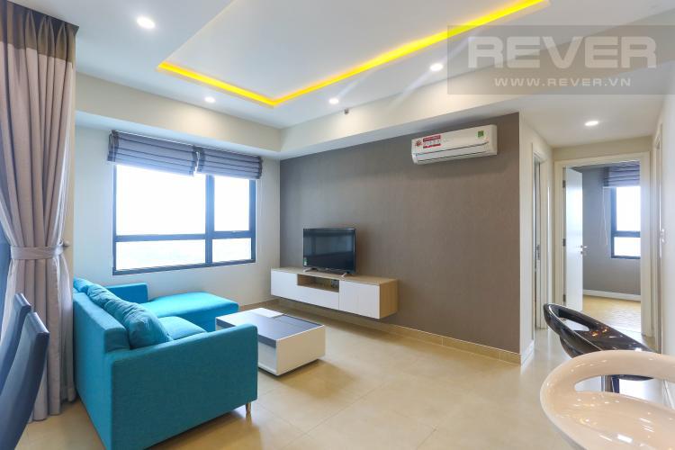 Phòng Khách Căn hộ Masteri Thảo Điền tầng cao 2PN, bàn giao kèm nội thất đầy đủ