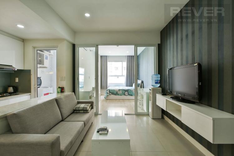 Phòng Khách Cho thuê căn hộ Lexington Residence 1PN, tầng trung, diện tích 45m2, đầy đủ nội thất