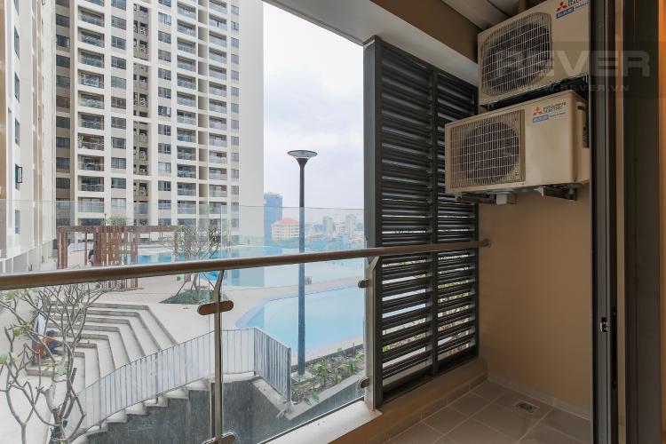 Ban Công Căn hộ The Gold View 1 phòng ngủ tầng thấp A3 view hồ bơi
