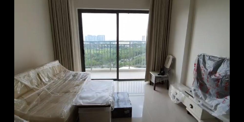 Phòng khách căn hộ THE SUN AVENUE Cho thuê căn hộ The Sun Avenue tầng thấp, 3 phòng ngủ,  diện tích 90m2, nội thất cơ bản.