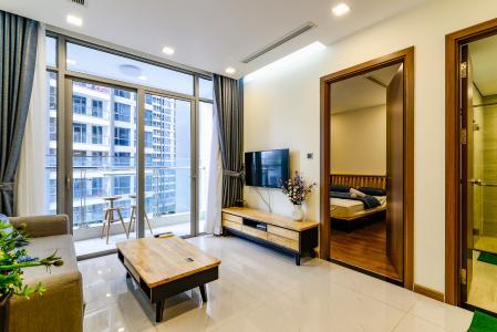Officetel 1 phòng ngủ căn hộ Vinhomes Central Park, tầng thấp, full nội thất
