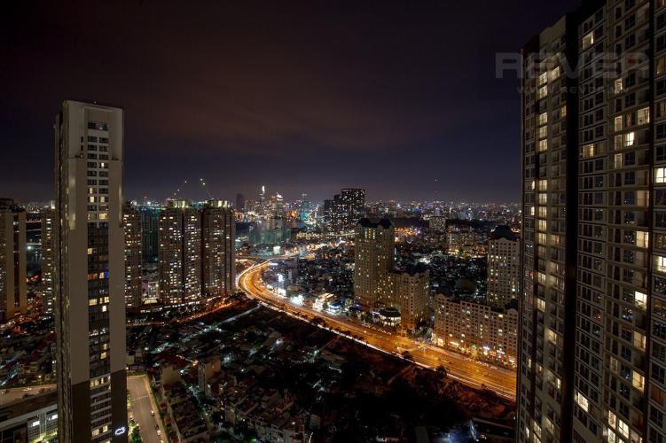 View Cho thuê căn hộ Vinhomes Central Park 2PN, tầng cao, tháp Landmark 3, đầy đủ nội thất, view thành phố