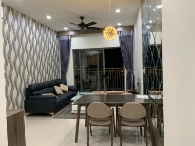 Cho thuê căn hộ The Sun Avenue 3PN, tầng thấp, block 2, đầy đủ nội thất, view đại lộ Mai Chí Thọ