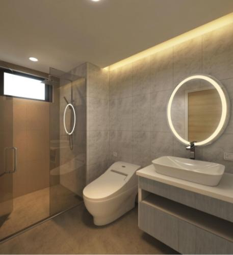 Phòng vệ sinh căn hộ Riviera Point Căn hộ Riviera Point tầng 28 nội thất đầy đủ, view thành phố tuyệt đẹp.