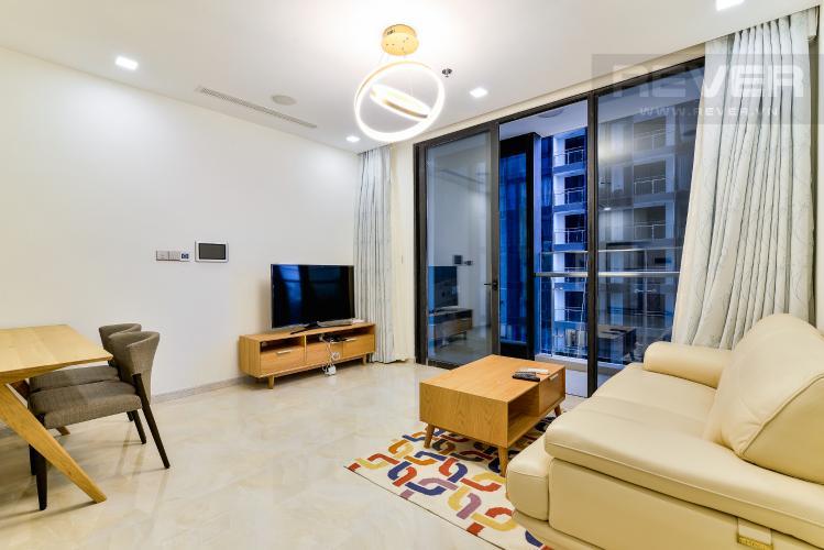 Phòng Khách Bán căn hộ Vinhomes Golden River tầng cao, 2PN, đầy đủ nội thất