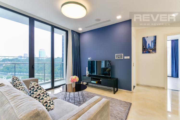 Phòng Khách Căn hộ Vinhomes Golden River tầng thấp, tháp A1, 3 phòng ngủ, full nội thất