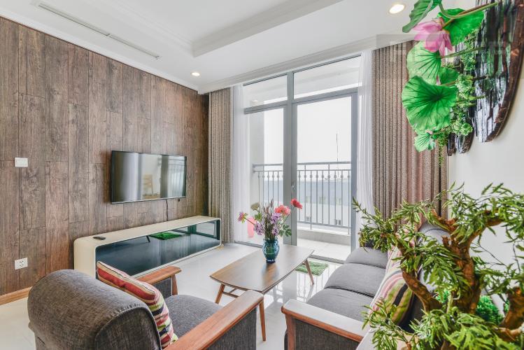 Phòng Khách Căn hộ Vinhomes Central Park 2 phòng ngủ tầng thấp C1 view sông