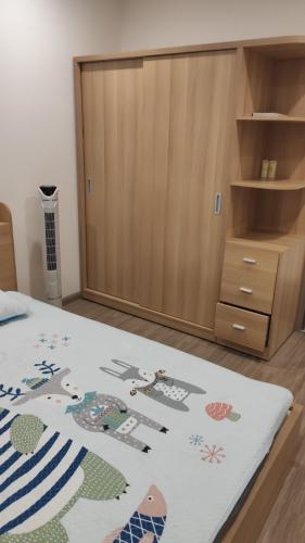 Phòng ngủ căn hộ Vinhomes Grand Park Căn hộ Vinhomes Grand Park view nội khu yên tĩnh, nội thất đầy đủ.