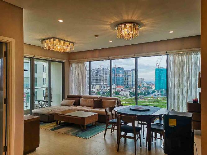 Phòng Khách căn hộ Diamond Island - Đảo Kim Cương Cho thuê căn hộ Diamond Island - Đảo Kim Cương 3PN, tháp Hawaii, đầy đủ nội thất, thiết kế đẹp mắt