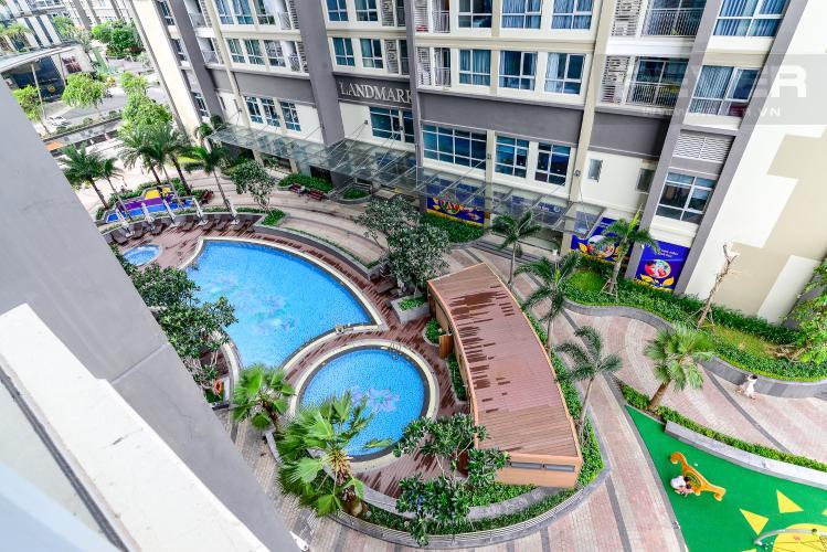 View Bán căn hộ Vinhomes Central Park 3PN, tầng thấp, đầy đủ nội thất, view hồ bơi