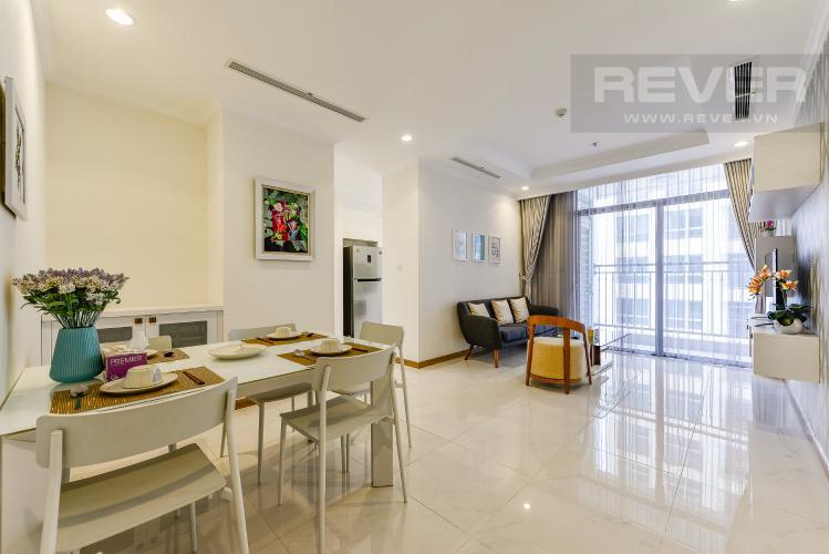 Phòng khách Căn hộ Vinhomes Central Park 2 phòng ngủ tầng cao L3 đầy đủ tiện nghi