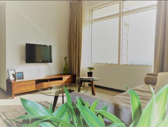 Phòng khách Saigon Pearl Quận Bình Thạnh Căn hộ Saigon Pearl tầng cao, view thành phố.