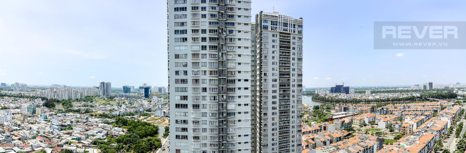 View Căn hộ Sunrise City 2 phòng ngủ tầng cao W1 hướng Nam
