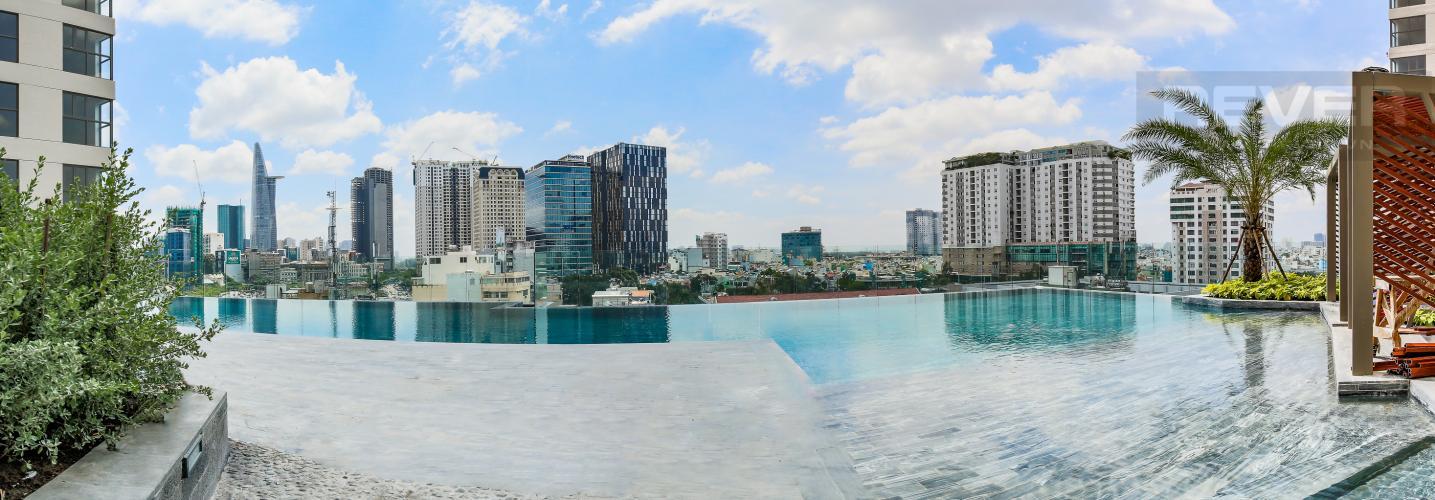 Hồ Bơi Bán căn hộ Masteri Millennium tầng trung, 2PN, view hồ bơi và toàn cảnh thành phố