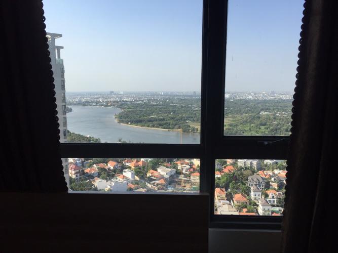view cảnh căn hộ Masteri Thảo Điền Căn hộ Masteri Thảo Điền 2 phòng ngủ, view sông và thành phố.