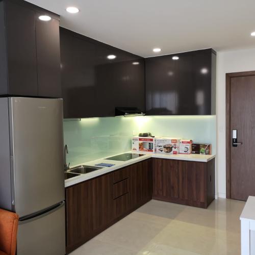 Bếp căn hộ MASTERI MILLENNIUM Bán căn hộ Masteri Millennium 2PN, diện tích 65m2, đầy đủ nội thất, view hồ bơi và Quận 4