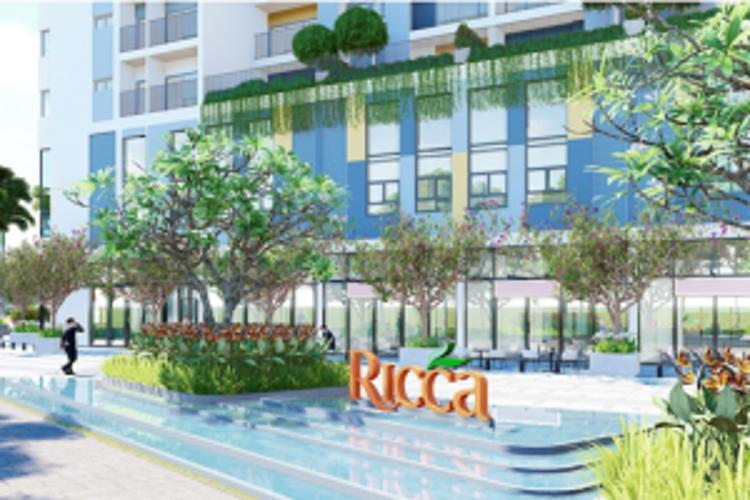 Phối cảnh khu căn hộ Ricca Bán căn hộ Ricca thuộc tầng trung, diện tích 68m2, 2 phòng ngủ, hướng ban công Tây Nam,