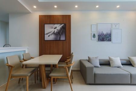 Căn hộ The Tresor 2PN, tầng cao, view sông, nội thất đầy đủ