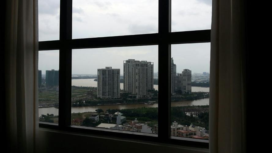 cửa sổ view căn hộ The Sun Avenue Cho thuê căn hộ tầng trung view sông, nội thất cơ bản The Sun Avenue