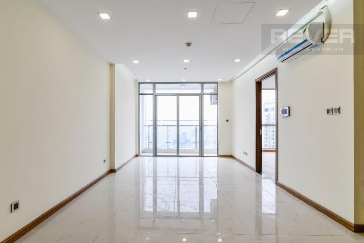 Phòng Khách Bán căn hộ Vinhomes Central Park 2PN, tầng cao, Park 7, nội thất cơ bản