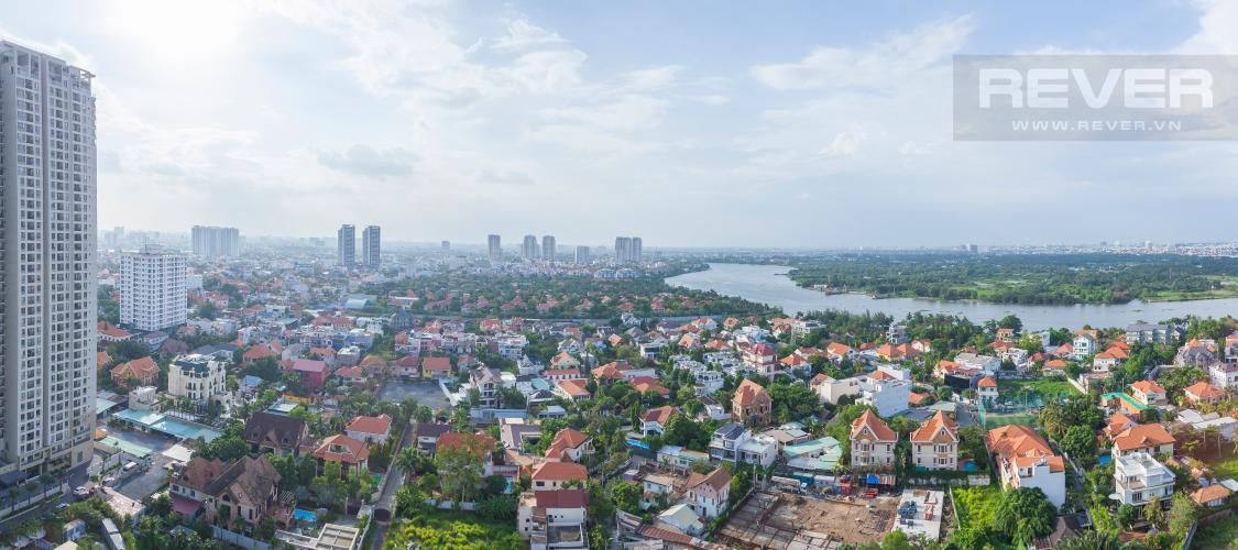 View toàn cảnh nhìn từ căn hộ Căn hộ Masteri Thảo Điền tầng cao hướng Tây Bắc tháp T3