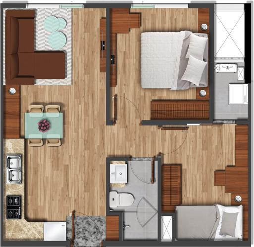 Căn hộ Akira City tầng thấp bàn giao nội thất cơ bản, view thoáng mát.